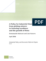 A policy for industrial champions
