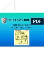 introduction to psychology aos1 part1 powerpoint
