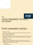 Project Management- MS Project 2007 Basics