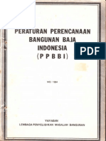 PPBBI (Peraturan an Bangunan Baja Indonesia) 1984