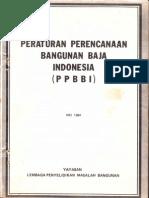 PPBBI (Peraturan an Bangunan Baja Indonesia) 1984