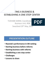IBC SWAZILAND - Starting a Business and Establishing a One-shop-center RDB 29052012