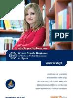 Informator 2012 - Studia podyplomowe - Wydział Ekonomiczny w Opolu Wyższej Szkoły Bankowej we Wrocławiu
