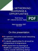 Social NetworkingLearningOpportunities Webinnovation2007