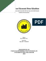 Makalah Pemikiran Ekonomi Ibnu Khaldun