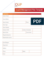 Event Management Plan Template