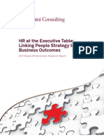 HR at the Executive Table Linking People Strategy to Business Outcomes