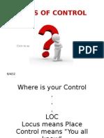 LOCUS of CONTROL Presentation Ppt