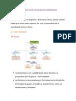 Usos y Costumbres de La Sociedad Grecorromana Celia Martinez 3eso.b