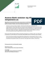 Pressmeddelande 2012-06-04_Avanza Bank