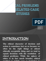 Ethical Problems and Related Case Studies