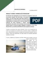 Comunicado de imprensa | Novo Renault Scénic