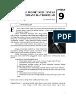1 Suwarno Modul 9 Analisis Regresi