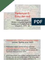 Teori Pasar Slide Entry Dan Exit