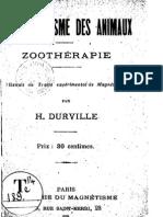 DURVILLE Hector - Le Magnétisme des Animaux