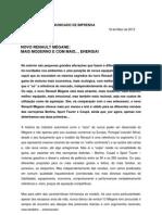 Comunicado de imprensa | Novo Renault Mégane