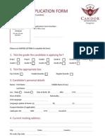 Candor Application Form
