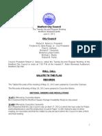 City Council Agenda June 5, 2012