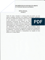 Nota oficial do SINDMED-Amapá