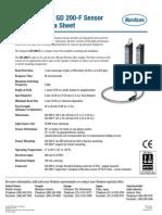 GD 200-S and GD 200-F Sensor Technical Data Sheet
