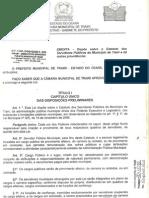 ESTATUTO DO SERVIDOR PÚBLICO MUNICIPAL DE TRAIRI - LEI Nº 415-2007