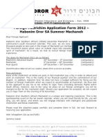 2012 Application Form for Foreigners