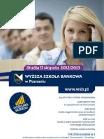 Informator 2012 - Studia II stopnia - Wyższa Szkoła Bankowa w Poznaniu