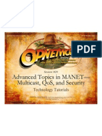 Advanced Topics in MANET - Multi Cast, QoS, And Security _pres