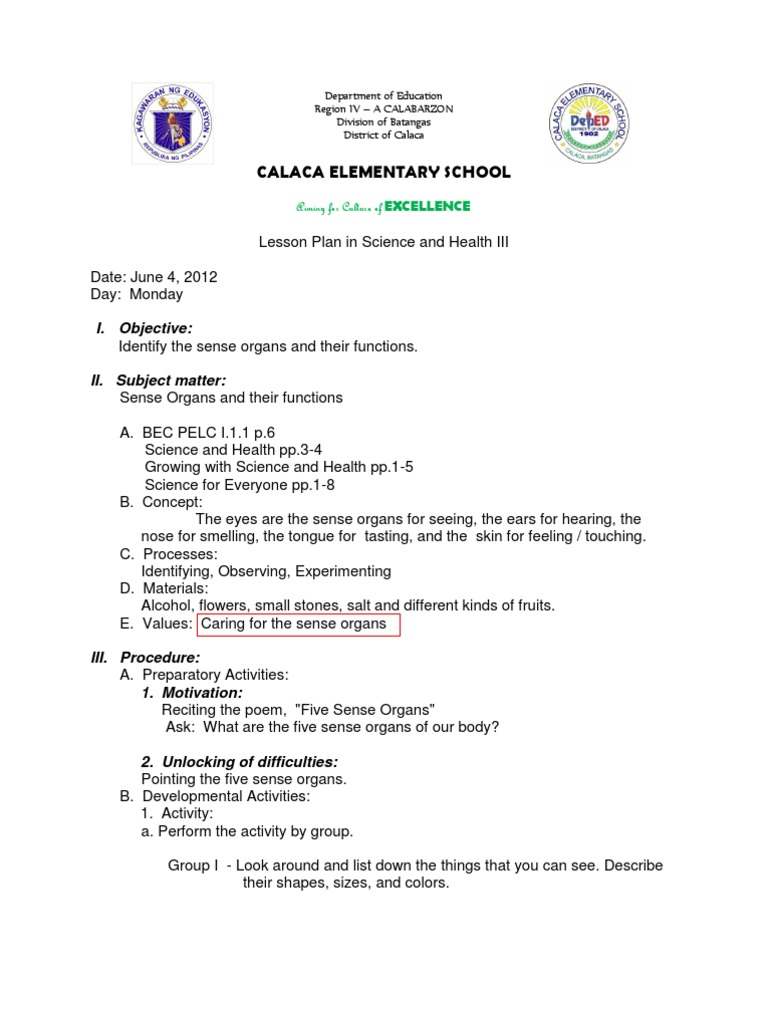 sample lesson plan in science iv Free science lesson plans - teachers, create and download free science lesson plans science lesson plans browse the entire collection of science lesson plans.