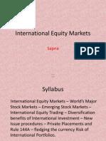 Module 3(a)-Equity Markets