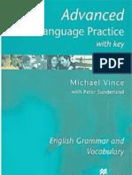 Advanced Language Practice English Grammar and Vocabulary Michael Vince