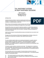 EnthalpyCorporateProforma1525 PMI Paper 'CIS Making the Right Investment Decisions'