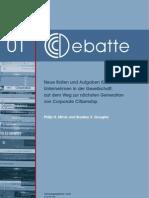 CCCDebatte01 Neue Rollen Und Aufgaben Fuer Unternehmen in Der Gesellschaft 2009