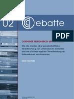 CCCDebatte02 Corporate Responsibility Und Die Medien 2009