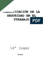 CLASIFICACIÓN DE LA SEGURIDAD EN EL TRABAJO