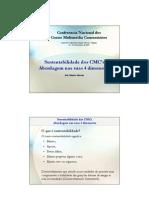 Sustentabilidade Dos CMC - Abordagem Nas Suas 4 Dimensoes