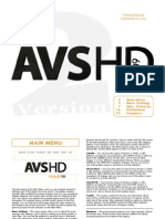 AVS709 Patterns Manual