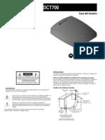 Decodificador Motorola DCT700 Manual de Usuario | TeleCentro