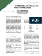 Sistema de Control Mediante Mensajes SMS y Micro Control Adores