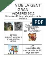 Festa Gent Gran Pedreres 2012