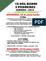 Programa Festa Del Barri Pedreres 2012
