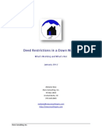 Deed Restrictions in a Down Market