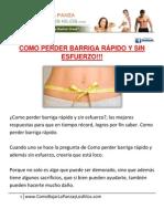 *** COMO PERDER BARRIGA RAPIDO Y SIN ESFUERZO!!!