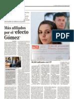 Más afiliados por el 'efecto Gómez' (6-oct-10)