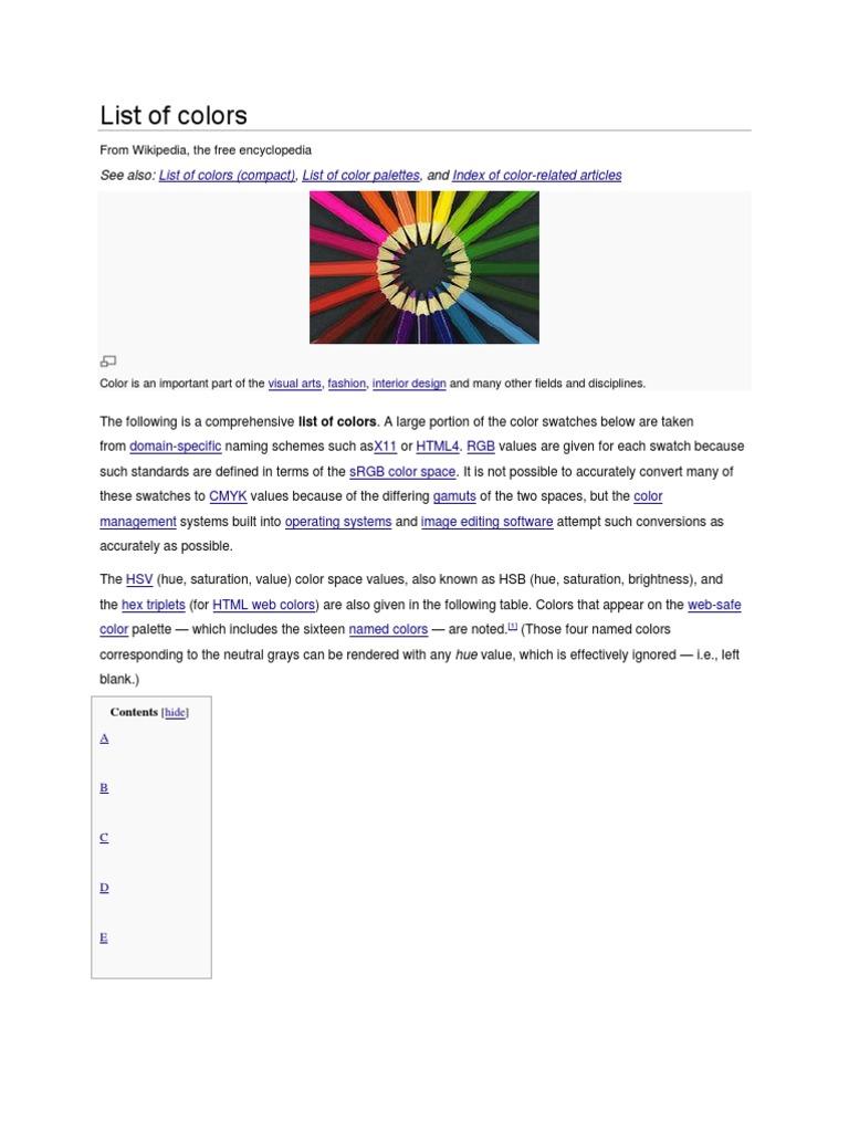 Web safe colors list - Web Safe Colors List 12