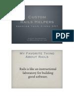 Custom Rails Helpers