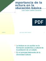 Importancia de la lectura en la educación básica