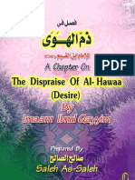 A Chapter on the Dispraise of Al Hawaa Lowly Desire Ibnu Qoyyim Al Jauziyah 243
