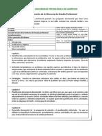 Guía para elaboración de la Memoria de Estadía Profesional TSU 2