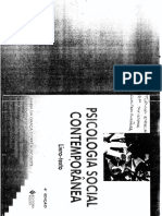 Psicologia Politica Psicologia Social Contemporanea